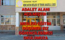 Kelkit Nene Hatun MTAL'da Adalet alanı açıldı