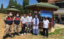 Şiran'ın köylerinde aşı noktaları oluşturuldu