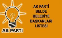 AK Parti'nin Belde Belediye Başkan Adayları Belli Oldu