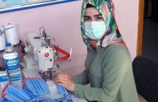 Gümüşhane Halk Eğitimi Merkezinde maske üretimi başladı