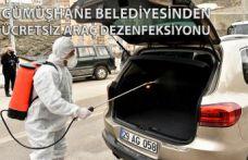 Gümüşhane Belediyesinden ücretsiz araç dezenfeksiyon hizmeti
