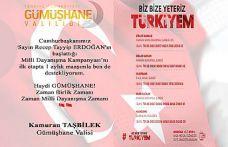 Vali Taşbilek'ten #BizBizeYeterizTürkiyem bağışı