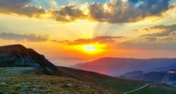 Zigana dağında eşsiz günbatımı manzaraları