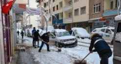 Gümüşhane Belediyesinden karla mücadele çalışmaları