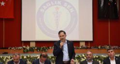 Sağlık-Sen Genel Başkanı Semih Durmuş Gümüşhane'de