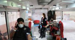 Polis teşkilatından kan bağışı