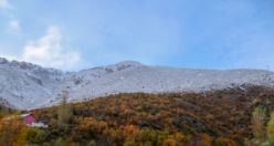 Gümüşhane'de karla gelen güzellik