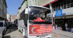 Gümüşhane'de dolmuşçular 'Bahar Kalkanı' operasyonuna destek çıktı