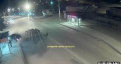 Gümüşhane'de ki 'Hatalı dönüş' kazaları MOBESE kameralarına yansıdı