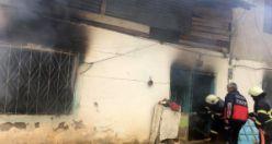 Sobadan sıçrayan alev bir evi küle döndürdü