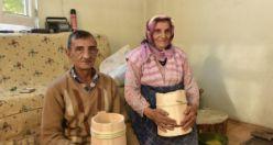 53 yıldır eşiyle birlikte külek yaparak geçimini sağlıyor