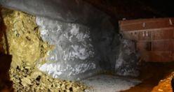 Gümüşhane'de inşaat alanında göçük meydana geldi