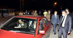 Vali Taşbilek'ten gece yarısı trafik denetimi