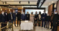 Başkan Çimen gazeteciler gününü unutmadı