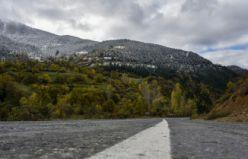 Zigana dağı beyaz gelinliğini giydi