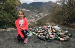 Minik Zeynep'ten çok ağır mesaj: Onların da evi çöplerle dolsun