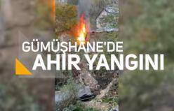 Gümüşhane'de ahır yangını