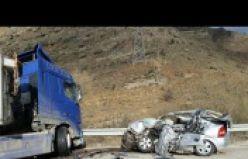 Gümüşhane'de feci kaza: 3 ölü, 1 yaralı