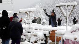 Zigana dağında kar kalınlığı 15 santimetreyi geçti