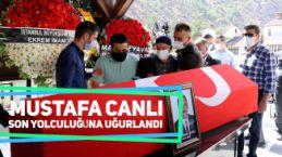 Mustafa Canlı son yolculuğuna uğurlandı