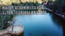 Koronavirüs tedbirleri alınan Limni Gölü ziyaretçilerini bekliyor