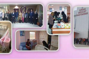 Kelkit ve Şiran Devlet Hastaneleri anne dostu hastane oldu