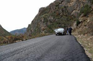 Gümüşhane İl Özel İdaresi asfalt çalışmalarına devam ediyor