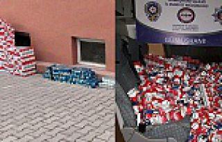 Gümüşhane'de 4 bin 60 paket kaçak sigara ele...