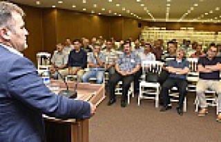 Başkan Çimen, işçilerle bir araya geldi