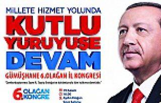 Cumhurbaşkanı Erdoğan 19 Kasım'da Gümüşhane'de