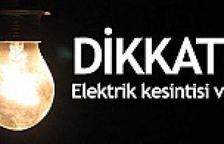 Dikkat! İl merkezinde ve Kürtün'de elektrik...