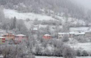 Gümüşhane'ye kar sürprizi