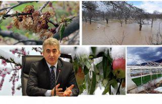 Doğal afetlerden etkilenen çiftçilerin borçları...