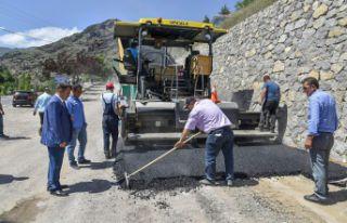 Asfalt çalışmaları Özcan Mahallesinden başladı