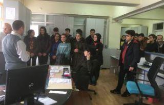 Muhasebe öğrencileri Vergi Dairesi'ni ziyaret...