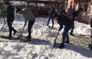 Şiran'da üniversite öğrencilerinden örnek davranış