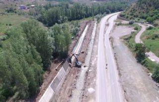 ArzularKabaköy taşkın kontrol inşaatı tamamlanmak...