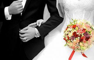 Türkiye'de kaba evlenme hızının en düşük...