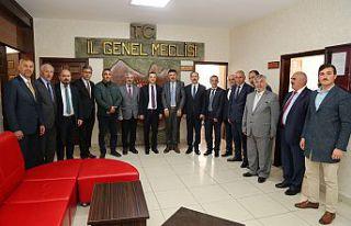 Vali Taşbilek'ten İl Genel Meclisine iade-i ziyaret