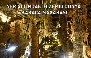 Yer altındaki gizemli dünya 'Karaca Mağarasında'...