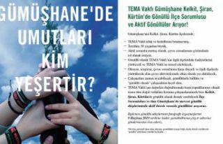 TEMA Kelkit, Şiran ve Kürtün'de ilçe sorumlusu...