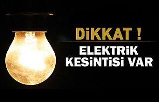 Elektrik kesintisi iptal edildi