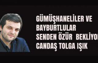 Gümüşhane ve Bayburtlulardan Gazeteci Candaş Tolga...