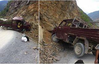 Yurt köyünde korkutan kaza