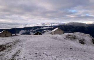 Kirazlık yaylasından eşsiz kar manzaraları