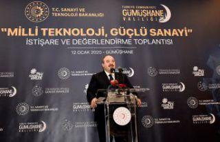Sanayi ve Teknoloji Bakanı Varank Gümüşhane'de...