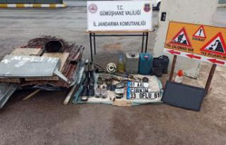 Jandarma hırsızları yol kontrolünde yakaladı