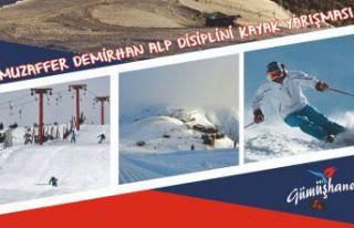 Kurtuluş için Zigana'da alp disiplini kayak yarışması...