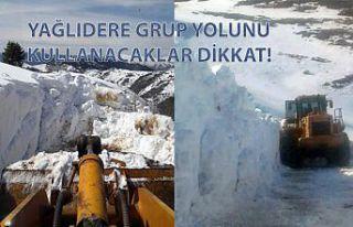 Gümüşhane'de ekipler mart ayında karla mücadele...