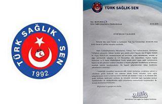 Türk Sağlık-Sen sağlık çalışanlarının ödüllendirilmesini...